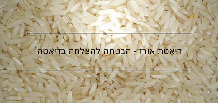 דיאטת אורז - הבטחה להצלחה לדיאטה מהירה