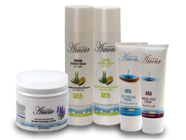 מוצרי ים המלח קיט מוצרי גוף שיער וטיפול בכף הרגל