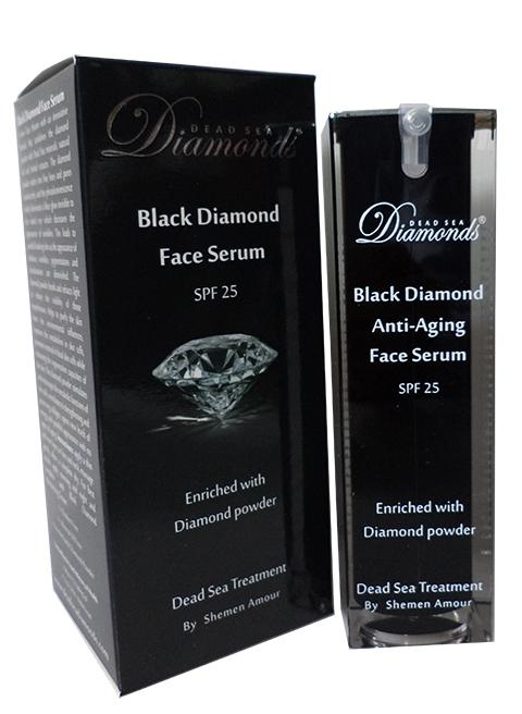 סרום פנים יהלום שחור קוסמטיקה ים המלח