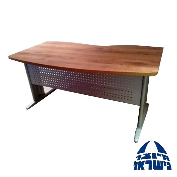 שולחן מחשב מעץ בשילוב רגל מתכת דגם ספיר