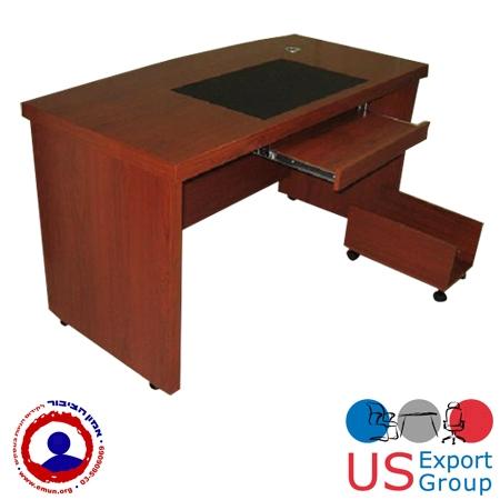 שולחן מחשב מעץ כולל ארגז מגירות נייד דגם תבור