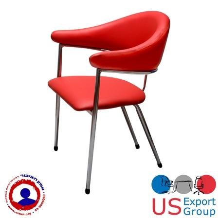 כסא אורח אדום מעוצב למשרד