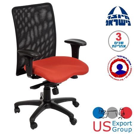 כסא משרדי גב רשת עם תמיכה אורטופדית דגם איטליה