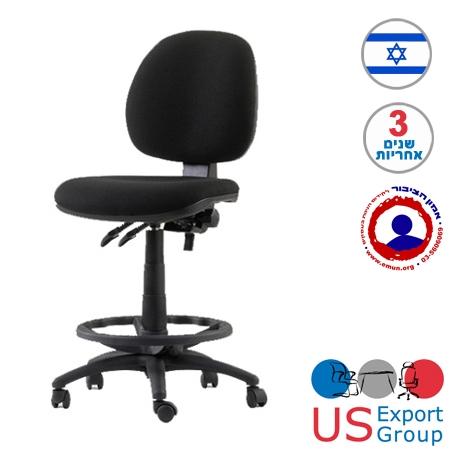כסא משרדי למעבדות  כולל חישוק  ובוכנה גבוהה