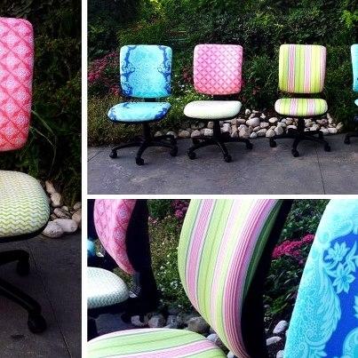 ריפוד כסאות מזכירה  בבד לקוח