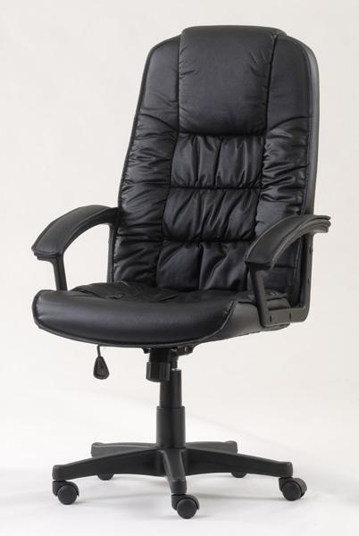 כסא מנהלים מעוצב גב גבוה עם תמיכה אורטופדית דגם פנטגון