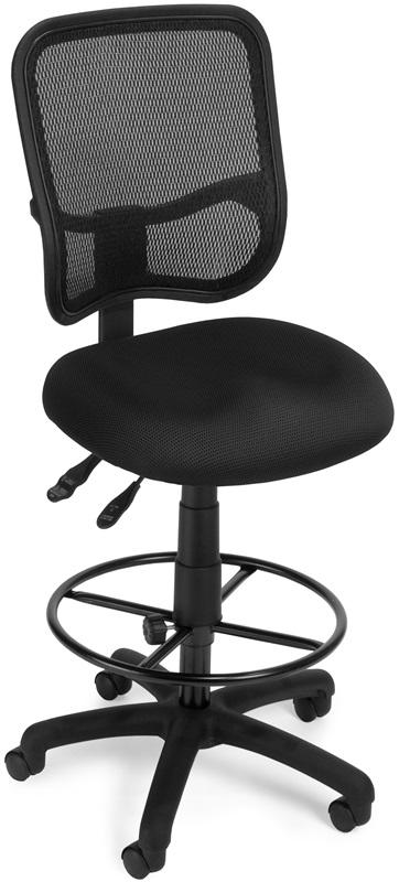 כסא מעבדה גב רשת כולל טבעת ובוכנה גבוהה דגם רדיוס