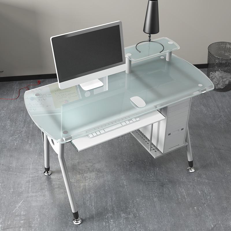 שולחן מחשב זכוכית  חלבית דגם פופ
