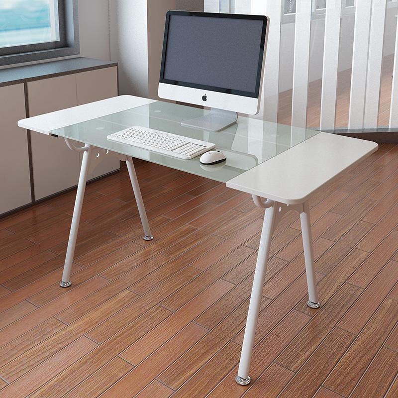 שולחן מחשב מעוצב מזכוכית לבית ולמשרד דגם מרקט