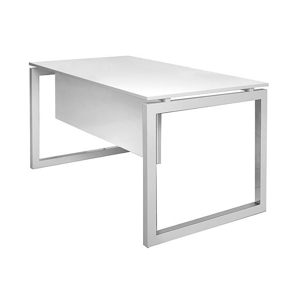 שולחן מחשב לבן בשילוב רגל מתכת חלון דגם window