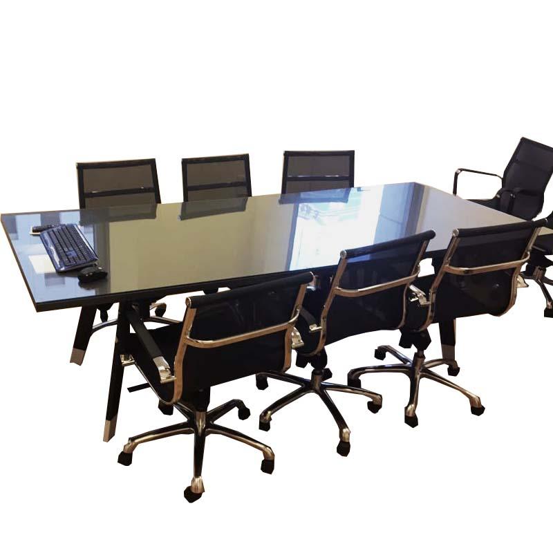 שולחן ישיבות בשילוב זכוכית דגם אינבו