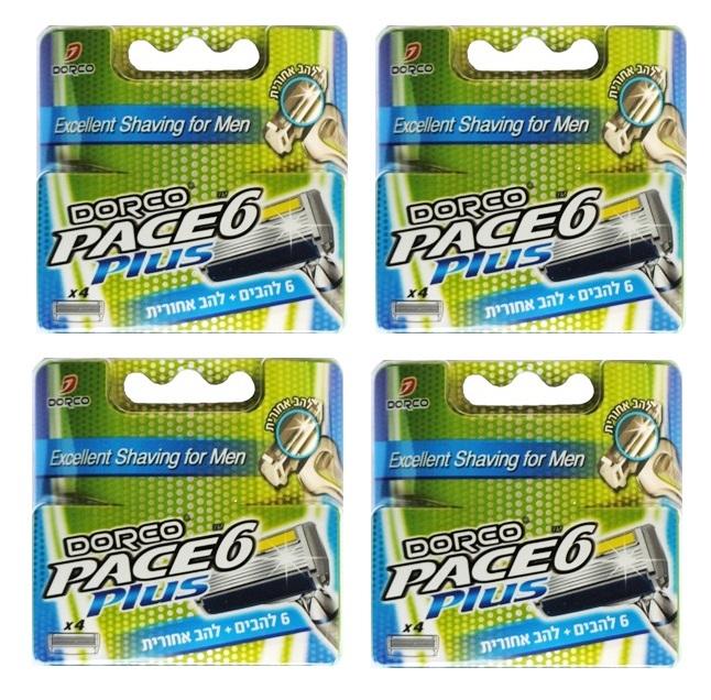 4 רביעיות מילוי לסכין גילוח דורקו Pace6 Plus