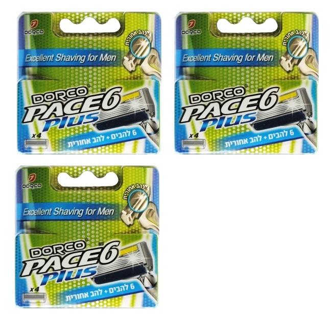 3 רביעיות מילוי ל סכיני גילוח דורקו Pace6 PLUS