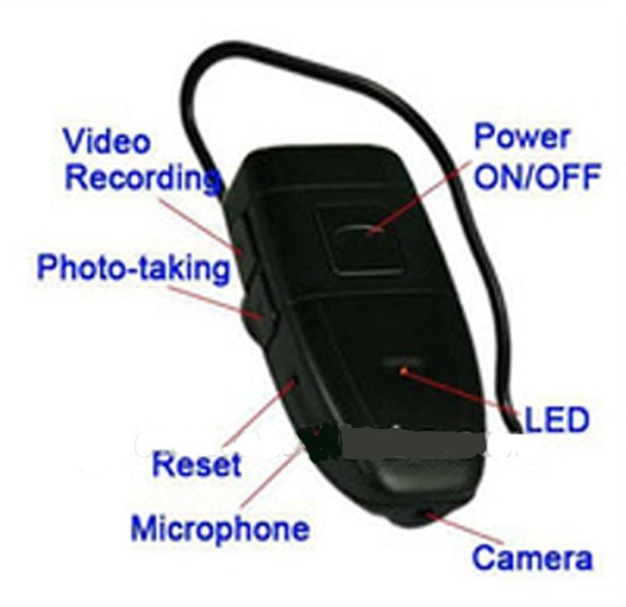 מצלמה בצורת אוזניית בלוטוט
