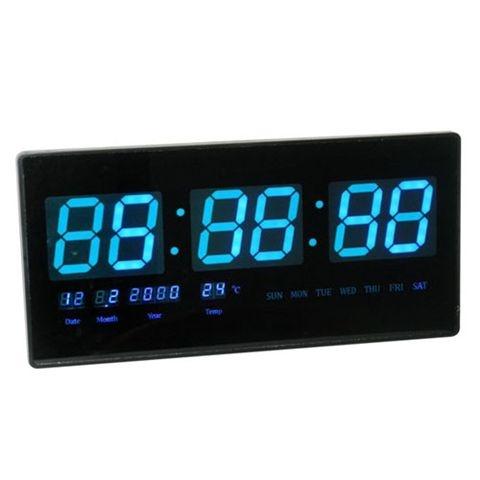 שעון קיר חשמלי ספרות כחולות