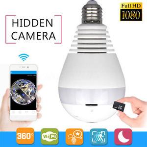 מצלמה נסתרת כמנורת חשמל