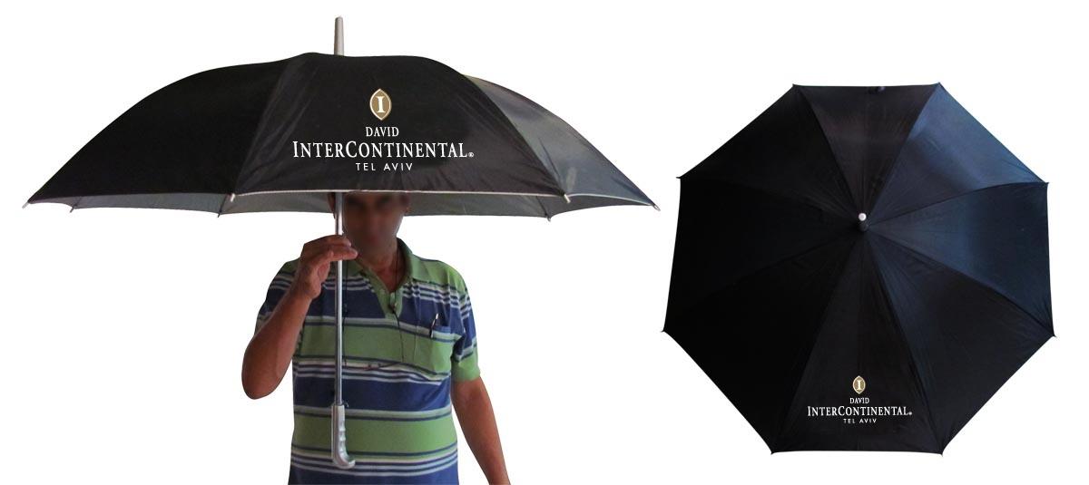 הדפסת לוגו על מטריות