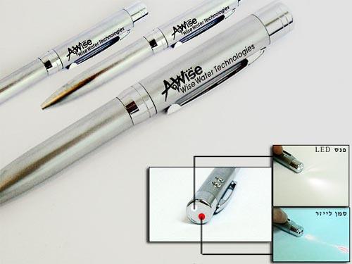 עט לייזר עם פנס לד | מוצרי פרסום מדליקים