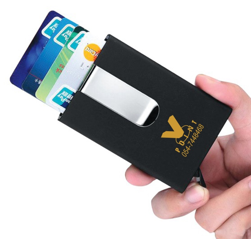 ארנק לכרטיסי אשראי נשלף