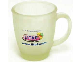 ספל זכוכית חלבית | כוס מאג זכוכית