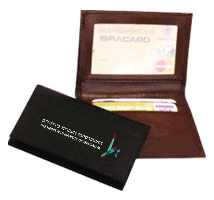 נרתיק עור לכרטיסי אשראי