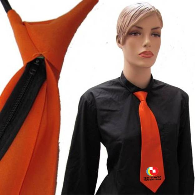 עניבה כתומה | הדפסה על עניבה