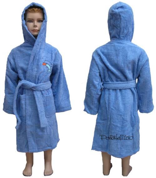 חלוק עם רקמה | חלוקי מגבת לילדים