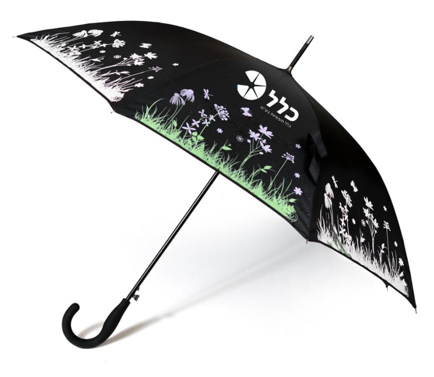 מטריה שצבעה משנה ממי הגשמים