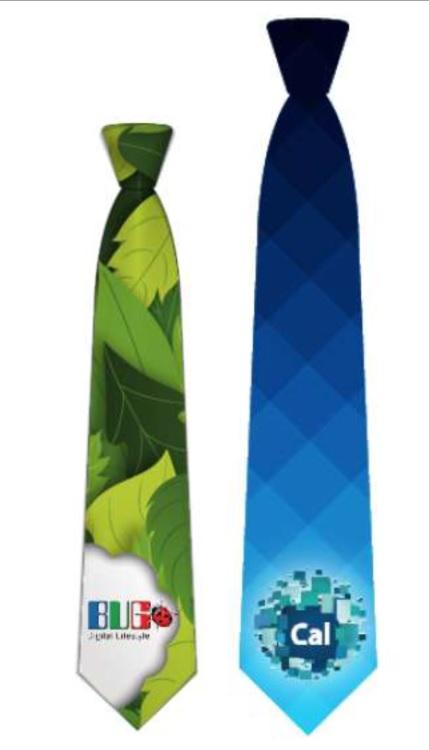 עניבה עם הדפס מלא