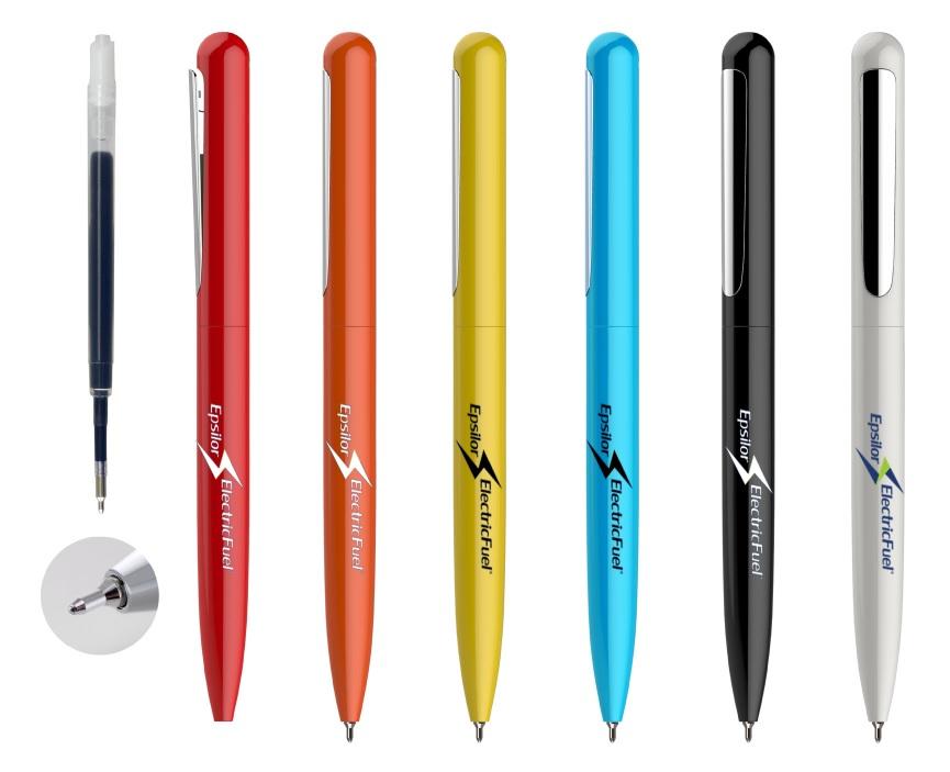עט מתכת עם מילוי ג'יל סיכה