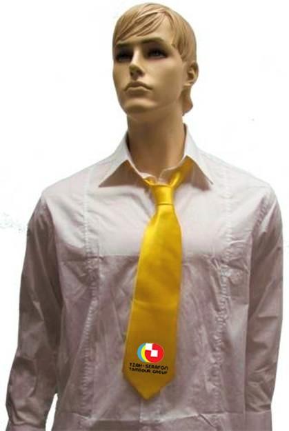 עניבות מעוצבת | עניבה צהובה לגבר