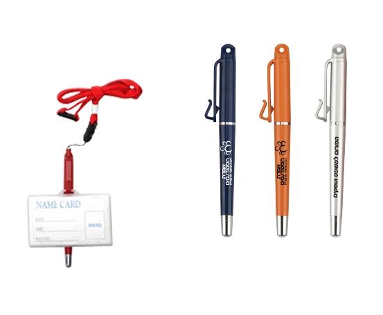 עט עם תופסן לתג   עטים עם לוגו