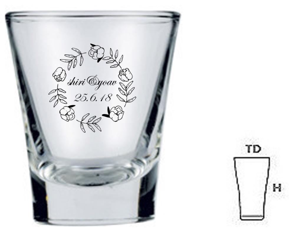 הדפסה על כוסות שוטים | כוס שוט