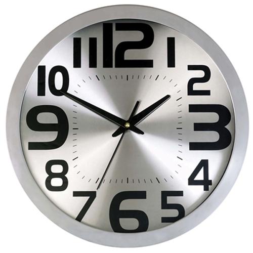 """שעונים גדולים   שעוני קיר מסגרת מתכת 36 ס""""מ"""