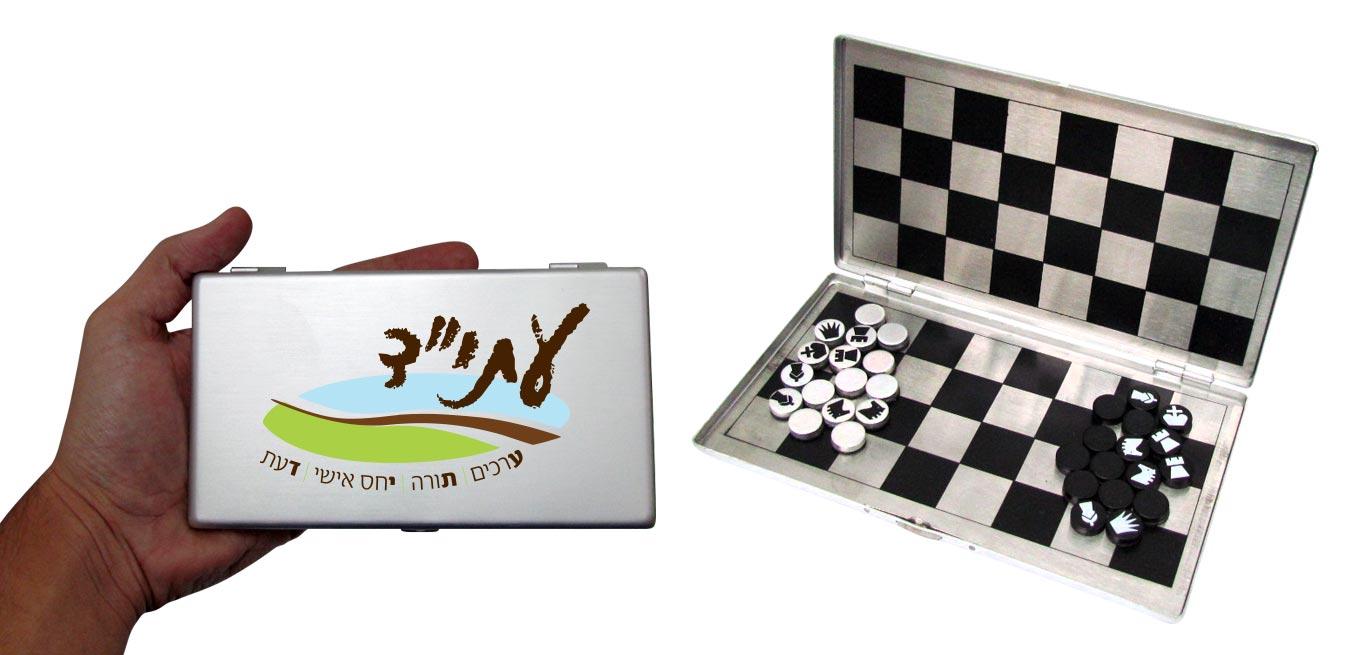 משחק שח מט מגנטי   סט 3 משחקים מגנטי