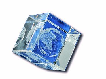 מעמד שולחני | גלובוס מזכוכית קריסטלית