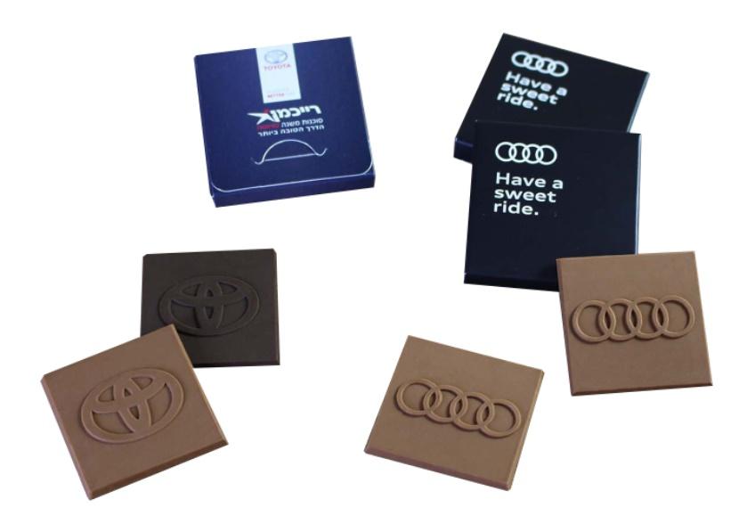 הטבעת לוגו על שוקולד | שוקולדים ממותגים לאירועים