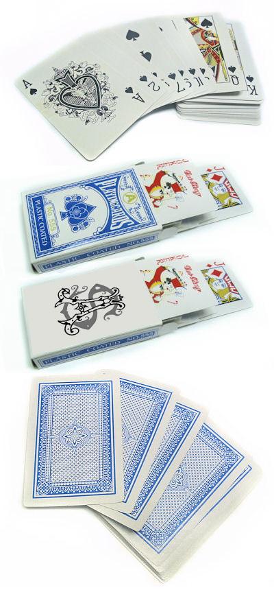 חפיסת קלפים עם הדפס