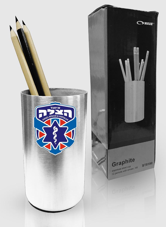 מחזיק עטים | מעמד כוס מתכת שולחני