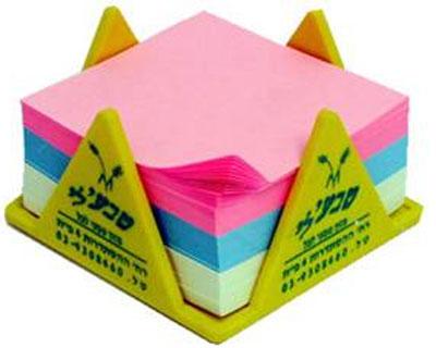 מעמד לנייר ממו | קופסת פלסטיק עם נייר