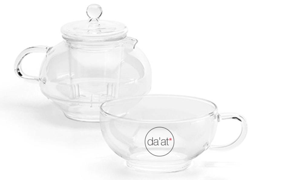 סט כוס וקנקן תה במארז