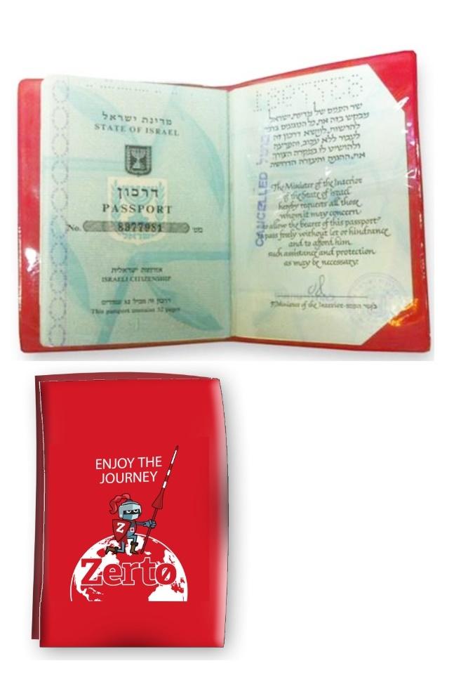 נרתיק לדרכון ממותג | עטיפה לדרכון