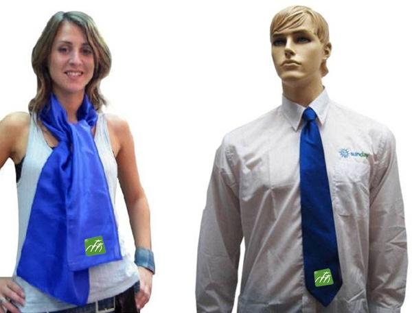 סט עניבה צעיף | עניבה ממותגת | צעיף ממותג