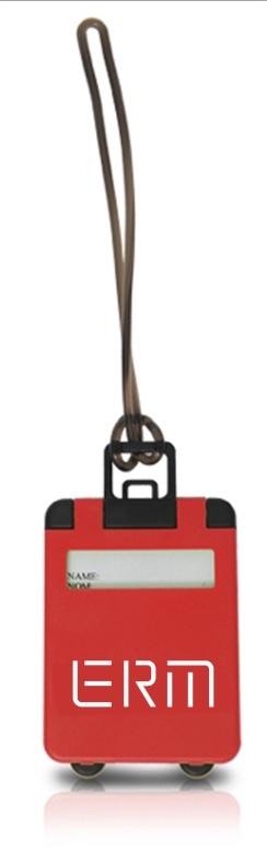 תג למזוודה עם לוגו | תגיות זיהוי