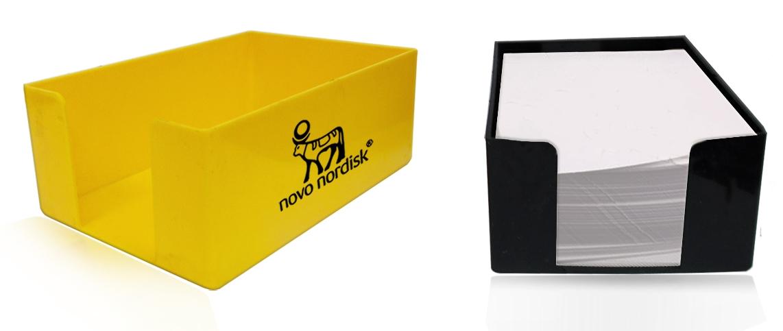 קופסת פלסטיק מלבנית לנייר ממו