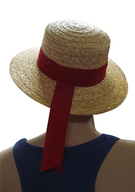 כובע גונדולה | כובע של קש
