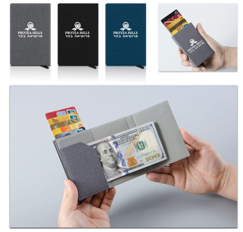 ארנק שולף כרטיסי ביקור | ארנק כרטיסים נשלפים