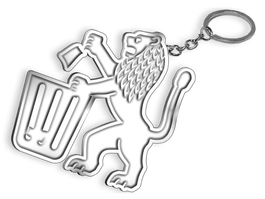 מחזיק מפתחות מעוצב אישית
