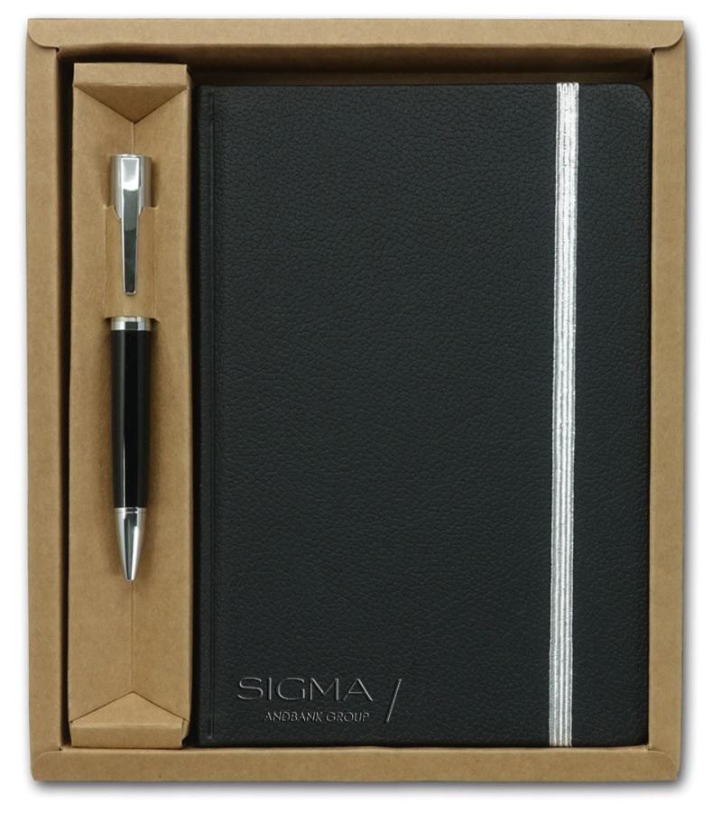 מחברת +עט בקופסת מתנה