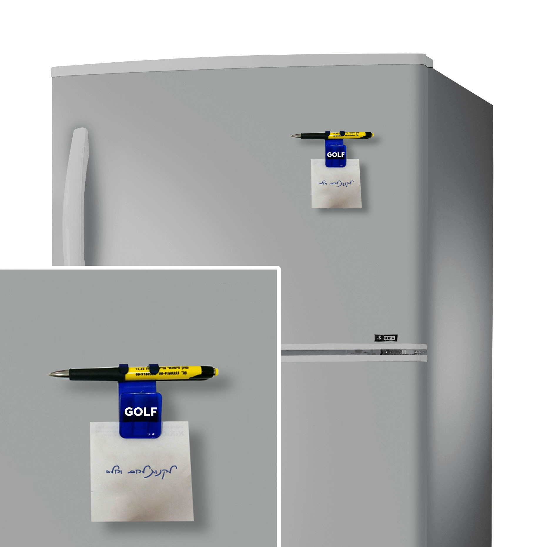 עט קליפס מגנטי | מתקן עט מגנט למקרר